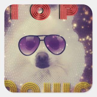 Top dawg square sticker