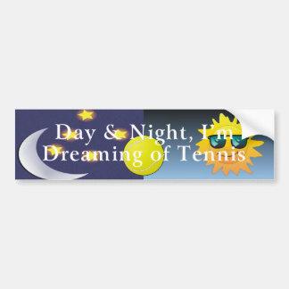 TOP Day Night Tennis Car Bumper Sticker