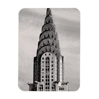 Top de Chrysler que construye NYC - B&W Imanes Rectangulares