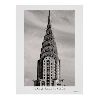Top de Chrysler que construye NYC - B&W Posters