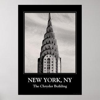 Top de Chrysler que construye NYC - B&W Poster