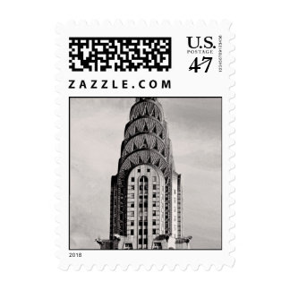 Top de Chrysler que construye NYC - B&W pequeño Sello Postal