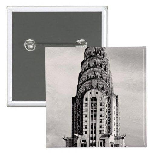 Top de Chrysler que construye NYC - B&W Pins