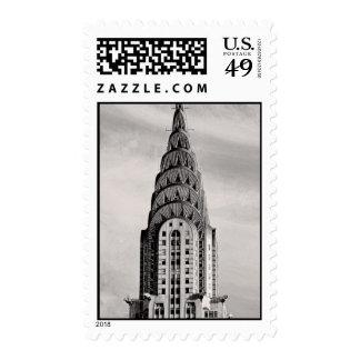 Top de Chrysler que construye NYC - B&W Franqueo