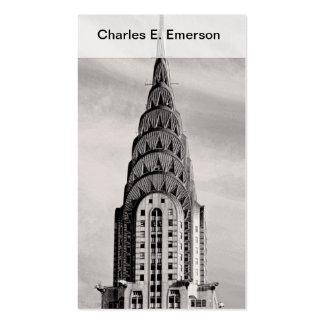 Top de Chrysler que construye NYC - B&W Tarjetas De Visita