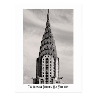 Top de Chrysler que construye NYC - B&W Tarjetas Postales