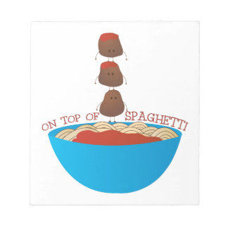 Top de espaguetis bloc de notas