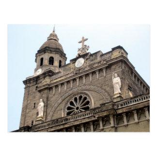 top de la catedral de Manila Postal