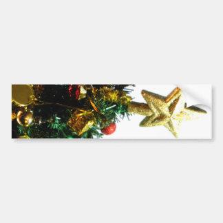 Top de la estrella del navidad I Pegatina De Parachoque