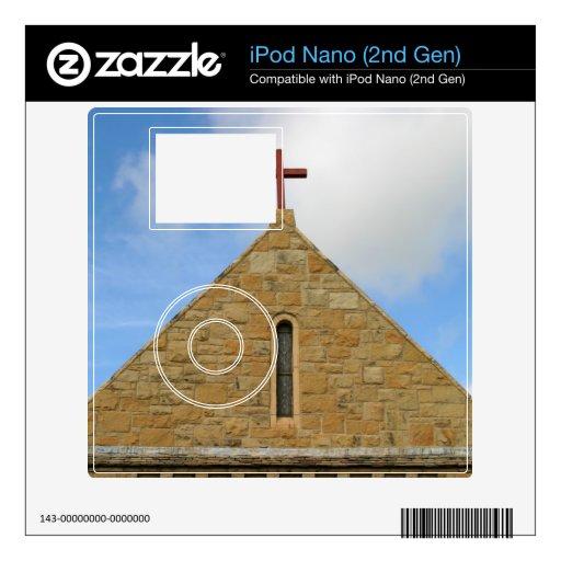 Top de la iglesia calcomanías para el iPod nano