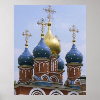 Top de la iglesia ortodoxa rusa en Rusia Póster