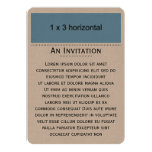 Top de la imagen de la plantilla de la tarjeta invitación 12,7 x 17,8 cm