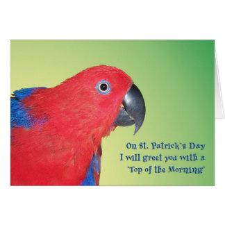 Top de la mañana tarjeta de felicitación