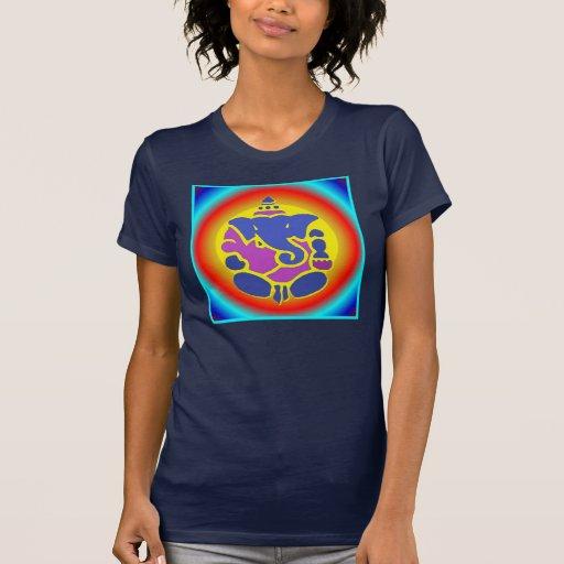 Top de la mandala del arco iris de Ganesha