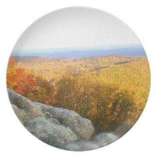 Top de la montaña de Tennessee Plato Para Fiesta