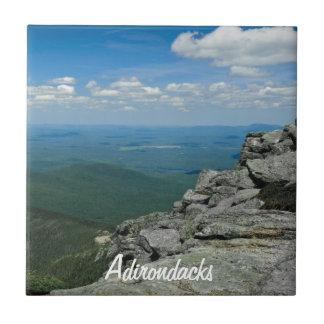 Top de la montaña de Whiteface, Adirondacks, NY Azulejo Cuadrado Pequeño