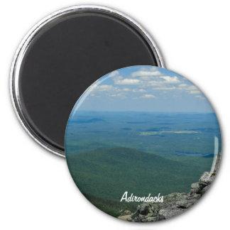 Top de la montaña de Whiteface, Adirondacks, NY Imán Redondo 5 Cm