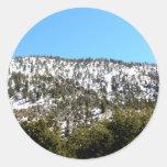 Top de la montaña etiquetas redondas