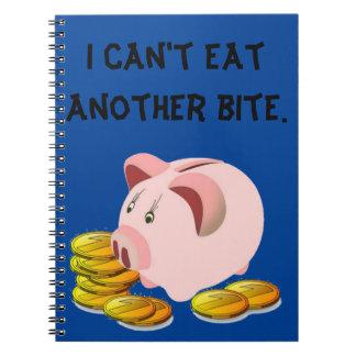 Top de la ranura de moneda de la hucha notebook