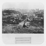 Top de la ruda Champlain París, 1858-78 Pegatina Cuadrada