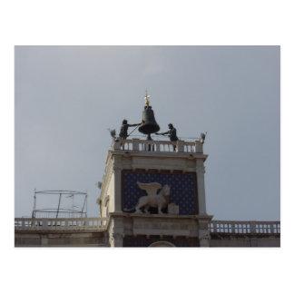 Top de la torre de reloj, el cuadrado de St Mark,  Tarjeta Postal
