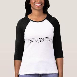 Top de las barbas del gato del maullido camisetas