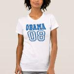 Top de los deportes OBAMA08 Camisetas