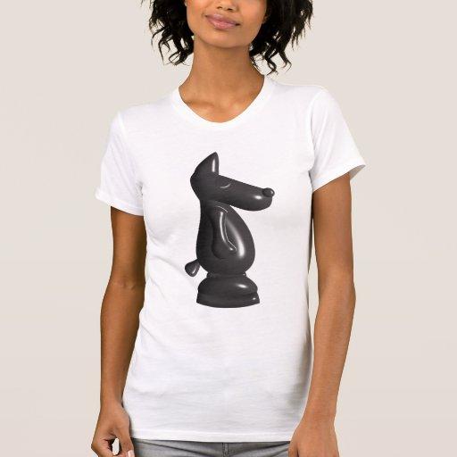Top de manga corta negro lindo del pedazo de camiseta