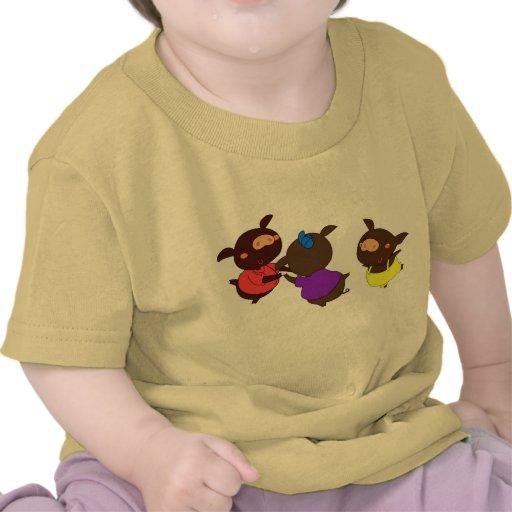 Top de tres pequeño cerdos camiseta