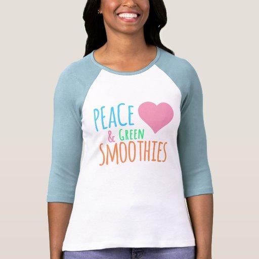 Top del amor del Smoothie del verde del corazón de Camiseta