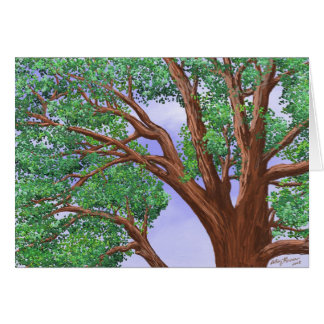 Top del árbol tarjeta de felicitación