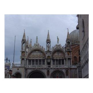 Top del Basilllica, el cuadrado de St Mark, Tarjeta Postal