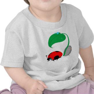 """Top del bebé de la """"señora y del Pillbug"""" Camiseta"""