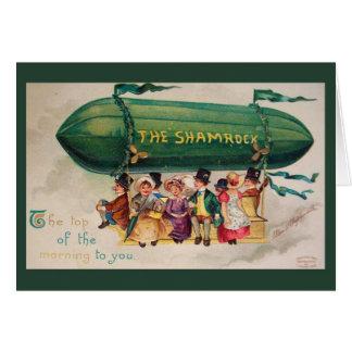 Top del día de St Patrick del vintage de las Tarjeta De Felicitación