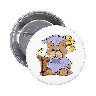 top del diseño del oso de la graduación de la clas pins