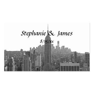 Top del ESB del horizonte de NYC de las tarjetas Tarjetas De Visita