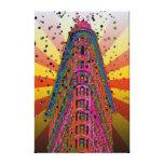 Top del Flatiron que construye rayos rojizos, amar Impresion En Lona