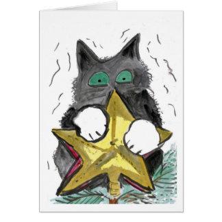 Top del gatito… del árbol tarjeta de felicitación