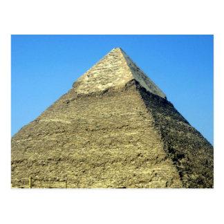 top del khafre de la pirámide tarjeta postal