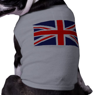 Top del perrito de Union Jack Camisa De Perro