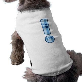 Top del perro del signo de exclamación camisetas de perrito