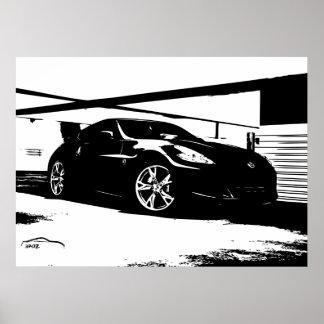 Top del tejado de Nissan 370Z Posters