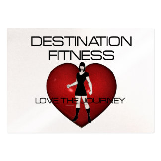 TOP Destination Fitness Large Business Cards (Pack Of 100)