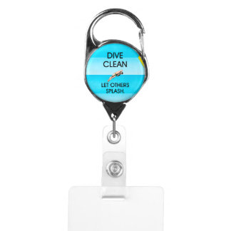 TOP Dive Clean Badge Holder