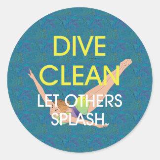 TOP Dive Clean Classic Round Sticker