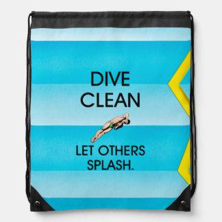 TOP Dive Clean Drawstring Bag