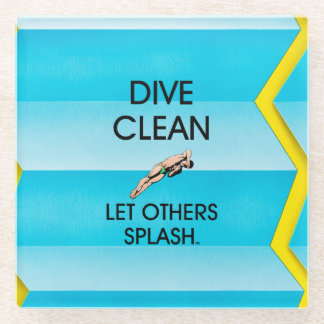 TOP Dive Clean Glass Coaster
