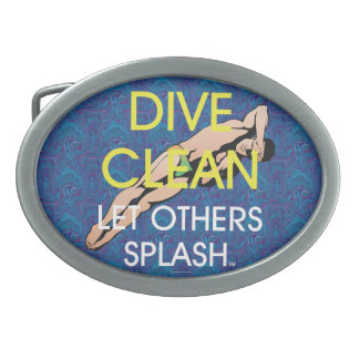 TOP Dive Clean (M) Oval Belt Buckle