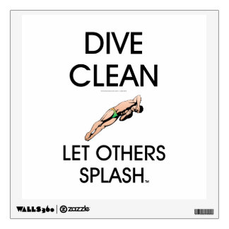 TOP Dive Clean (M) Wall Decal