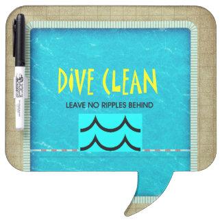 TOP Dive Clean No Ripples Dry Erase Board